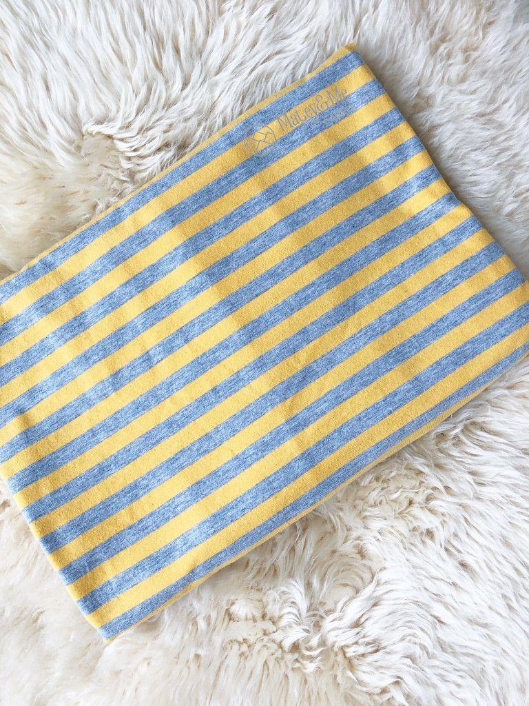 Sunshine and Grey Yarn Dyed Stripes